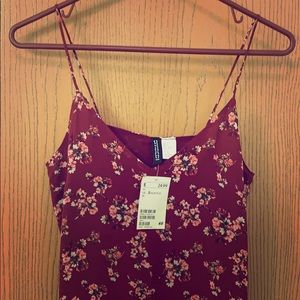 Beautiful Maroon floral dress from H&M
